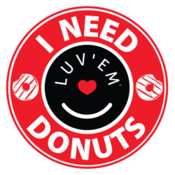 Luv'em I Need Donuts 3/4 Sleeve Shirt Design
